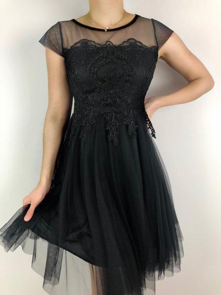 Φόρεμα από Τούλι και Δαντέλα- Μαύρο